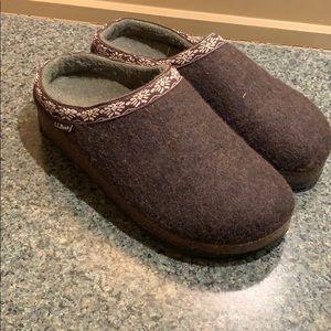 LL Bean wool slipper clog
